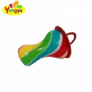 Baby Candy Ring Rainbow Pacifier Candy Fruity Handmade Custom Lollipop Colorful Nipple Lollipop Sweet Hard Candy
