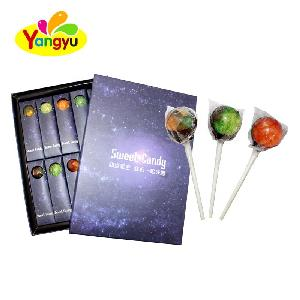 18g Hot Sale Edible Image Planet Lollipop Galaxy Star Lollipop