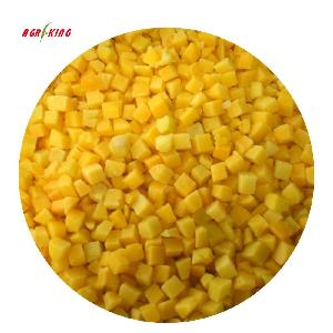 China Brands Healthy Famous Frozen  IQF   Yellow   Peach   Dices