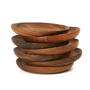 Acacia wood plates wholesale	cheap price tableware dinnerware food serving for home and restaurants