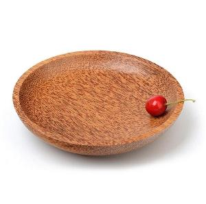 Natural Coconut Wooden Dishes Wood Plates Eco Friendly Handmade