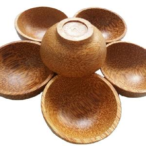 Natural coconut wood bowls with cheap price