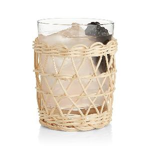 Rattan cup  and wine glass holder natural and cheap  price  eco friendly product