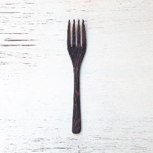 Ebony  wood  black coconut spoon and fork