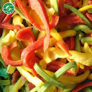 iqf frozen pepper with color of red .yellow and green