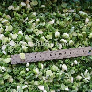 supply BRC certified IQF frozen green onion slice dice good quality hot sale