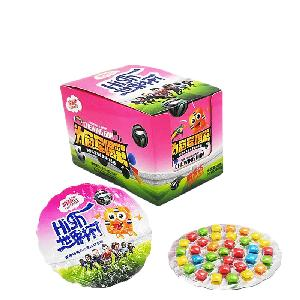 World  Cup Mini Square Cprisy Chewing Gum Packing with Blister