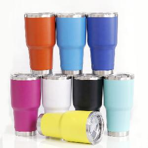 Custom Stainless Steel Double Wall Vacuum Insulated Tumbler 30oz with Mag Slider Lid