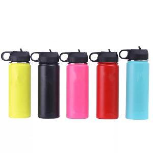 Customized  color custom logo print Stainless Steel Hydro 18oz 24oz 32oz 40oz 50oz 64oz drinking Water Bottle