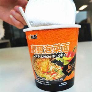 Ramen cup soup noodles OEM kimchi ramen halal ramen noodle korean with organic vegetable oil