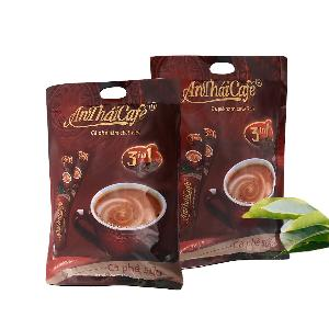 AnThaiCafe 3in1 Instant Coffee Mix Powder AnThai Roasted Ground Coffee Blend Double strength with the Creamer Flavors and Sugar