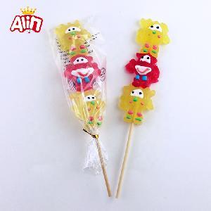 Cartoon shape with wacky expressions popular taste gummy candy