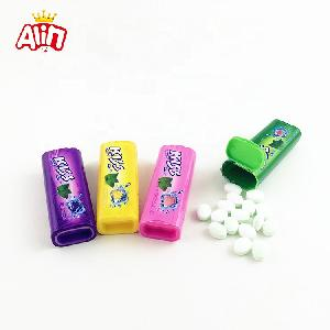 Wholesale   HALAL  Chilled mint with fruity Ellipsoid shaped hard  candy