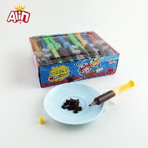 Lovely cartoon nurse gun-shaped syringe delicious liquid chocolate