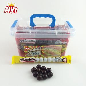 Practical portable  household   plastic  storage box interesting bagged ball black and white chocolate