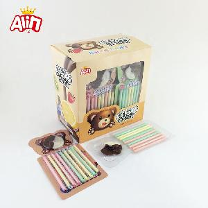 Interesting and lovely chocolate bear and colorful fruit CC stick