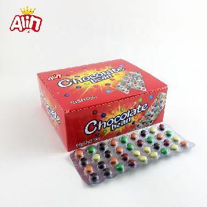 Halal pressed tablet crispy rainbow sugar-coated childhood memories chocolate beans