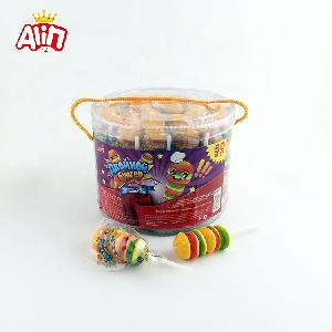 Barreled  pvc  hamburger  soft  string with six layers of lovely QQ hamburger chewy fudge