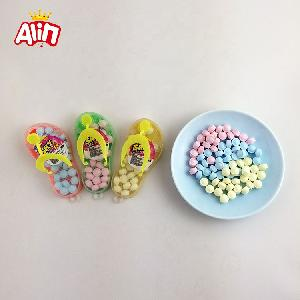 Bottled interesting colorful sky slippers toys mini multicolor sweet hard candy