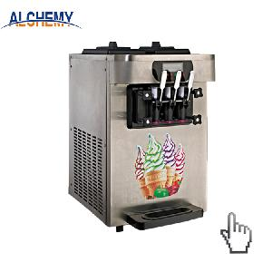 Mobile food cart with frozen yogurt machine