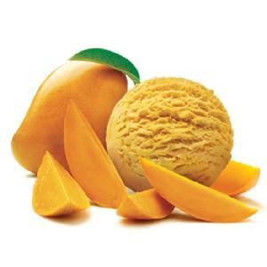 Tasty drinking fresh mango pulp
