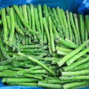 frozen iqf  green   asparagus   spears  fresh pack blanched peeled