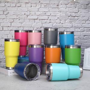 30oz Stainless Steel tumbler Vacuum Insulated Double Wall Travel car regular glitter regular Tumbler cups With custom logo