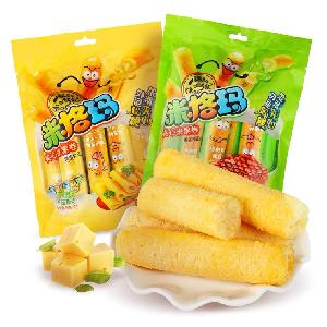 Wholesale crispy Corn and rice roll snacks China s best-selling snacks Non-fried healthy snacks