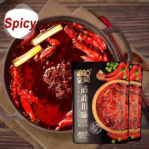 Wholesale  320g Clear oil and spicy seasoning hot pot seasoning  Sichuan Hot Pot Seasoning Mixed Spicy Flavor Hotpot Soup Base