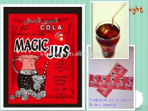 Hot sales mixed cola and pineapple also mango fruits flavoured drink powder