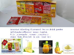 Instant fruits flavor drink powder in compound mixed