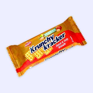 Sweet and Salt Crackers 20 gm Square Crunchy Crispy Biscuits in a small Sachet pack for Children Krunchy Kracker Kids mini Smile