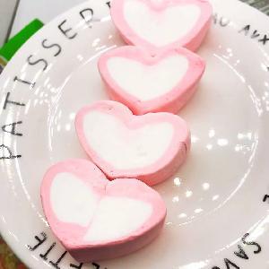 Heart marshmallow halal marshmallow twist marshmallow wholesale