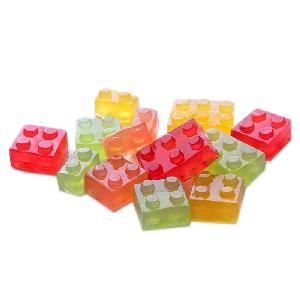 Building blocks 4D soft  candy  sweets custom gummy  candy  in bulk