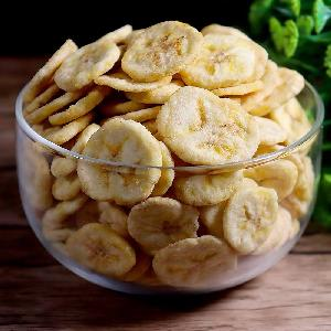 Delicious sweet vacuum fried banana chips casual snack