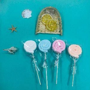 Wood   Stick  Lollipop Shaped Marshmallow Candy Sweets Fun Snack