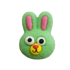 12g high-quality green rabbit shaped marshmallow cotton candy