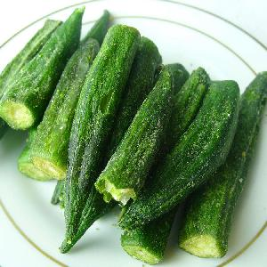 Factory supply vacuum fried vegetable chips okra chips office snacks