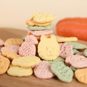 Colorful animal shaped mini biscuits kids snacks