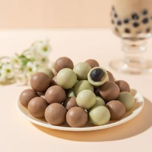 Sale new product  chocolate  pearl  milk  tea candy by the factory supplied