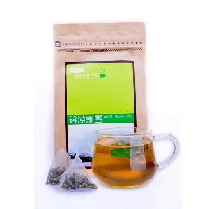 Nylon Pyramid Teabags, Jasmine Green Tea, 30 pieces teabags zipper kraft bag packing