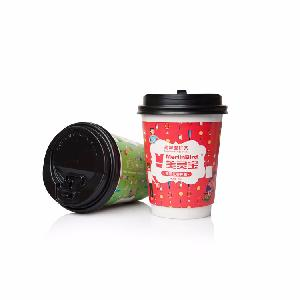 China Hot Sale Patent Product Paper Cup Instant Tea Food Grade Hollow Tea   Coffee Cup Single Package With Lid Customized Flavor
