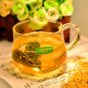 Osmanthus Green Tea Pyramid Tea Bags Customized Private Label