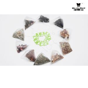 OEM Biodegradable Triangle  Shaped   Tea  bag   Nylon  Mesh Pyramid  Tea   Bag s With String Pyramid  Tea   Bag