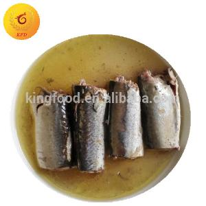 Canned mackerel fish fillets in oil canned fish canned seafood supplier