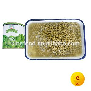 Canned  fresh   green   peas  in tin