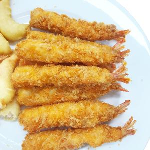 34g per piece Frozen Breaded Shrimp with Yellow Crumb