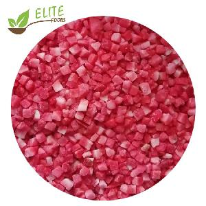 New season crop top Quality  IQF Strawberry cubes Frozen Strawberry dices diced/cubes