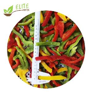Frozen Mixed Color Sweet Pepper Strips/Slice IQF RED/GREEN/YELLOW pepper slices of new season crop