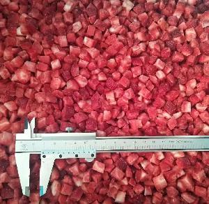 new season IQF Strawberry dices Frozen Strawberry diced IQF Strawberry cubes